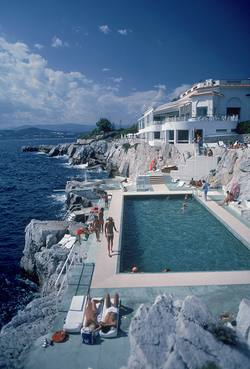 Buy Slim Aarons 'Hotel Du Cap Eden-Roc by pool' photographic print in NZ New Zealand.