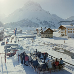 Buy Slim Aarons 'Lech Ice Bar' photographic print in NZ New Zealand.
