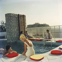 Slim Aarons 'Penthouse Pool' photographic print