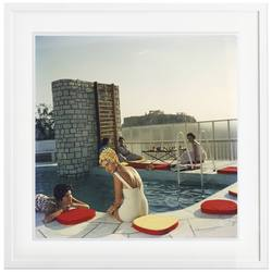 Slim Aarons 'Penthouse Pool' framed print