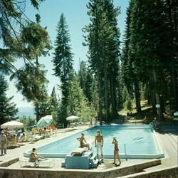 Slim Aarons 'Pool at Lake Tahoe' photographic print