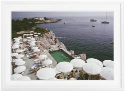 Slim Aarons 'Pool by the Sea' framed print