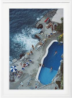 Slim Aarons 'Pool at Amalfi Coast' framed print