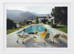 Buy Slim Aarons 'Poolside Gossip' framed print in NZ New Zealand.