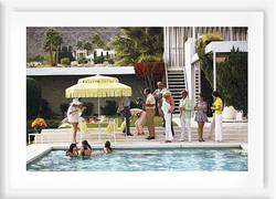 Slim Aarons 'Poolside Party' framed print