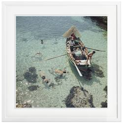 Buy Slim Aarons 'Snorkelling in the Shallows' framed print in NZ New Zealand.