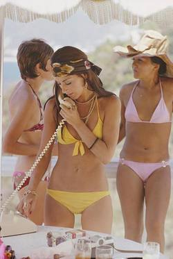 Slim Aarons 'Social Call' photographic print