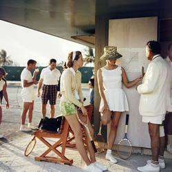 Slim Aarons 'Tennis in the Bahamas' photographic print