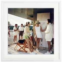 Slim Aarons 'Tennis in the Bahamas' framed print