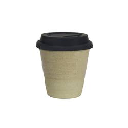 Reusable ceramic cup clear glaze