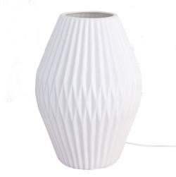 Buy Linear ceramic table lamp 25cm high in NZ New Zealand.