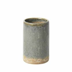 Slim small stoneware vase