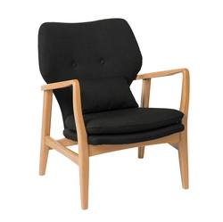 Buy Upholstered oak armchair black in NZ New Zealand.