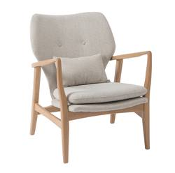 Buy Upholstered oak armchair natural in NZ New Zealand.