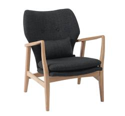 Buy Upholstered oak armchair dark grey in NZ New Zealand.
