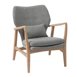 Buy Upholstered oak armchair light grey in NZ New Zealand.