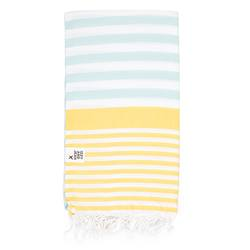 Buy Sofia Turkish towel mint & yellow in NZ New Zealand.