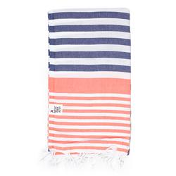 Buy Sofia Turkish towel navy & coral in NZ New Zealand.
