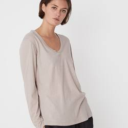 Assembly Label soft V long sleeve tee taupe
