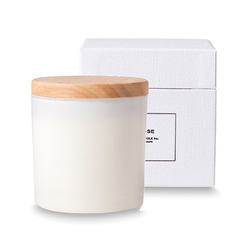 Buy Soy candle with wooden lid - rose in NZ New Zealand.