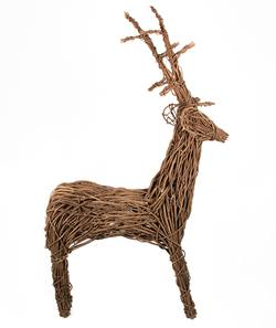 Twisted vine freestanding reindeer large