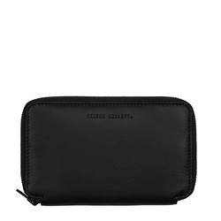 Buy Leather travel wallet black in NZ New Zealand.