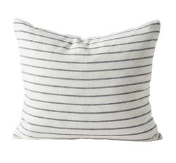 Stripe linen rect cushion cover