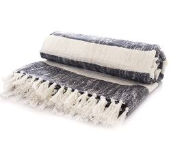 Buy striped cotton throw in NZ New Zealand.