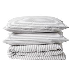 Striped organic cotton duvet cover