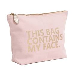 Buy 'Contains my face' wash bag in NZ New Zealand.