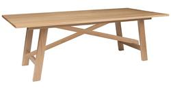 Buy Lacquered American oak truss table in NZ New Zealand.