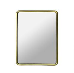 Small mirror on a stand brass