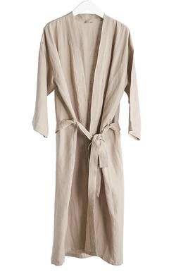 Buy linen dressing gown dusky pink in NZ New Zealand.