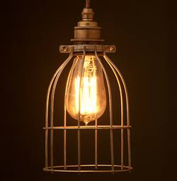 Buy Vintage style metal cage light in NZ New Zealand.