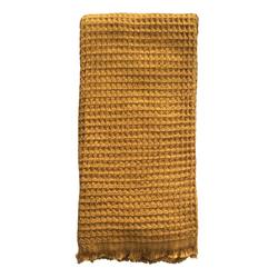 Buy Waffle Turkish towel mustard in NZ New Zealand.