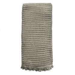 Buy Waffle Turkish towel olive grey in NZ New Zealand.