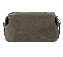 Waxed canvas wash bag