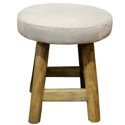 Buy cowhide & wood stool natural in NZ New Zealand.