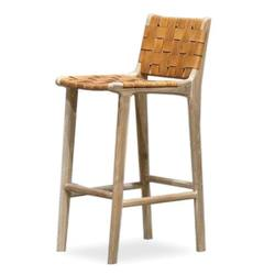 Buy Woven leather bar stool 73cm high in NZ New Zealand.