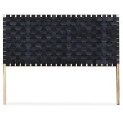 Woven leather bedhead black