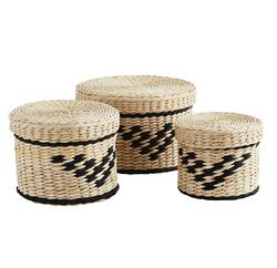 Buy Woven round rush boxes in NZ New Zealand.