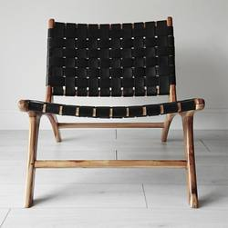 Buy Woven leather lounge chair in NZ New Zealand.