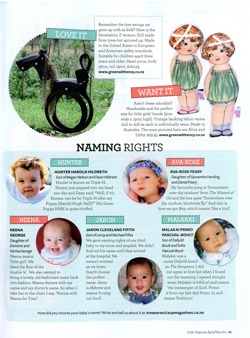 Little Treasures GWE feature pg 21 lr