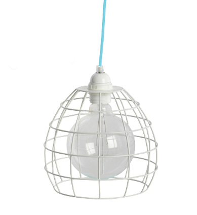Wire lampshade dome white wire lampshade white wire light click image to enlarge greentooth Image collections