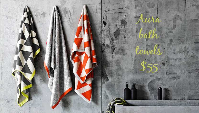 hm page aura bath towels